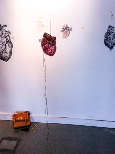 3D heart and drawing in the Waterfront Gallery