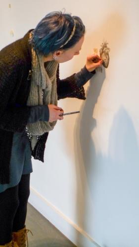 Naomi Barrell drawing her heart
