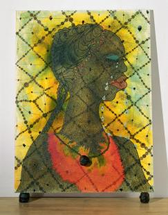Chris Ofili born 1968 Purchased by The Tate 1999 http://www.tate.org.uk/art/work/T07502